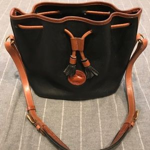Dooney & Bourke Black Leather Bucket Bag